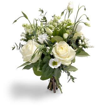 Hvide blomster til buket