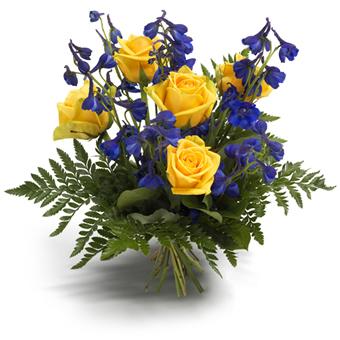 send blomster til sverige